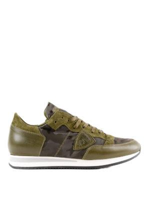 PHILIPPE MODEL: sneakers - Sneaker Tropez camouflage verdi