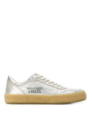 PHILIPPE MODEL: sneakers - Sneaker Lakers Vintage in pelle argentata