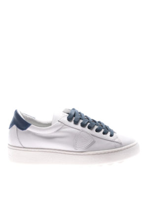 Philippe Model: trainers - Madeleine blue laces white sneakers