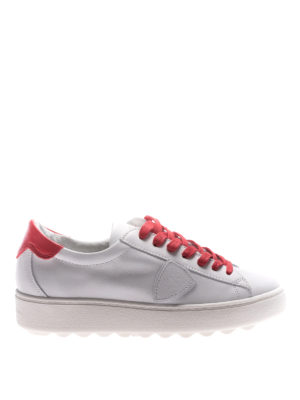 Philippe Model: trainers - Madeleine red laces white sneakers