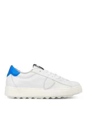 Philippe Model: trainers - Madeleine white and blue sneakers