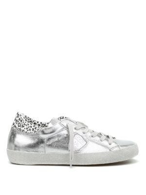 Philippe Model: trainers - Metallic leather Classic sneakers