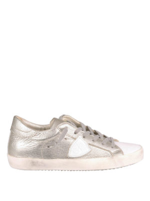 Philippe Model: trainers - Metallic leather sneakers