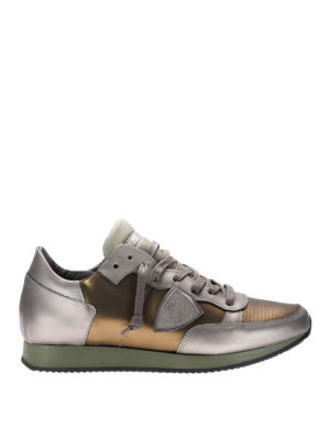 Philippe Model: trainers - Metallic leather Tropez sneakers