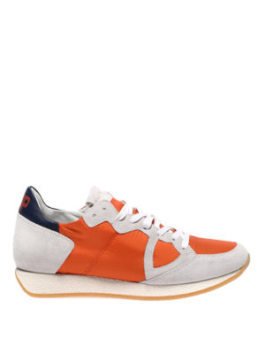 PHILIPPE MODEL: trainers - Monaco Vintage basic orange sneakers