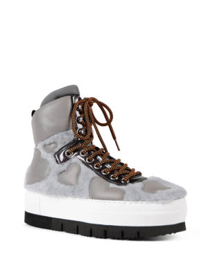 Philippe Model: trainers online - Adele fur inserts high top sneakers
