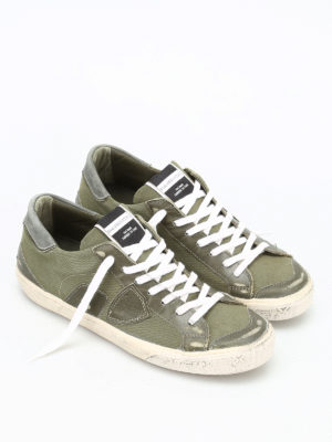 Philippe Model: trainers online - Bercy army canvas sneakers