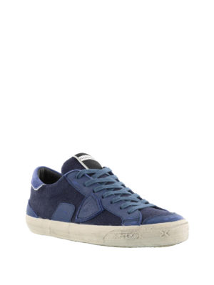 Philippe Model: trainers online - Bercy blue canvas sneakers