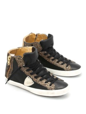 Philippe Model: trainers online - Bike glittered high-top sneakers