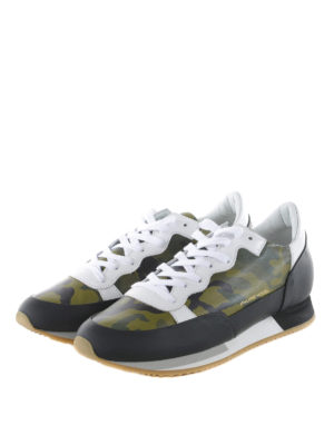 Philippe Model: trainers online - Bright camouflage printed sneakers