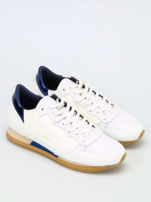 Philippe Model: trainers online - Bright two-tone leather sneakers