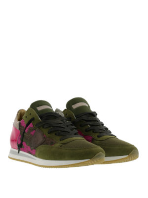 Philippe Model: trainers online - Camouflage printed Tropez sneakers