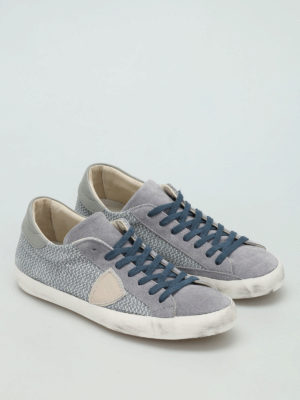 Philippe Model: trainers online - Classic drilled suede sneakers