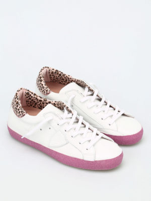 Philippe Model: trainers online - Classic Glitter leather sneakers