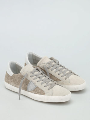 Philippe Model: trainers online - Classic perforated suede sneakers