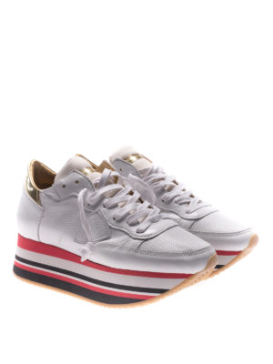 Philippe Model: trainers online - Eiffel platform white sneakers