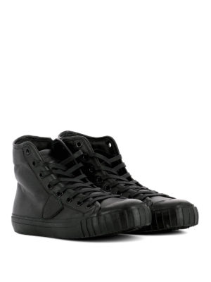 Philippe Model: trainers online - Gare high-top leather sneakers