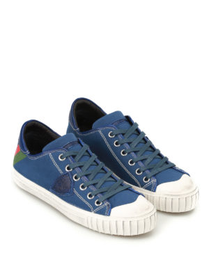 Philippe Model: trainers online - Gare used-effect canvas sneakers
