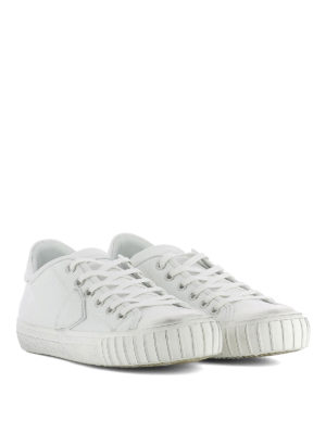 Philippe Model: trainers online - Gare white leather sneakers