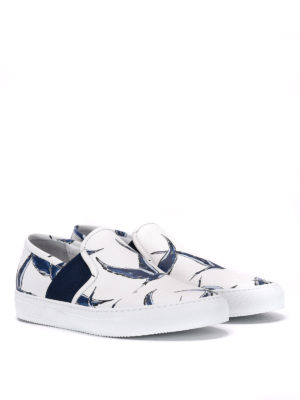 Philippe Model: trainers online - Heron print leather slip-ons