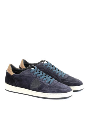 Philippe Model: trainers online - Lakers blue suede sneakers