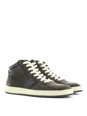 Philippe Model: trainers online - Lakers leather high-top sneakers