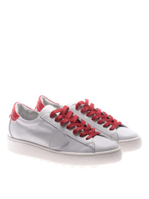 Philippe Model: trainers online - Madeleine red laces white sneakers