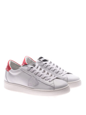 Philippe Model: trainers online - Madeleine white and red sneakers