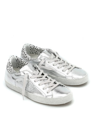 Philippe Model: trainers online - Metallic leather Classic sneakers
