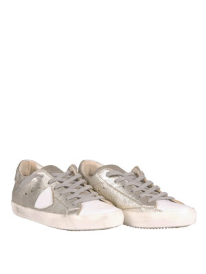 Philippe Model: trainers online - Metallic leather sneakers