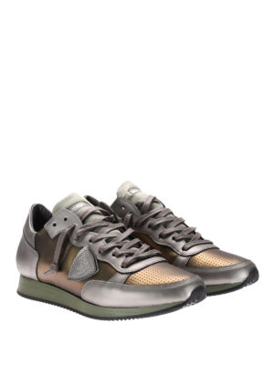 Philippe Model: trainers online - Metallic leather Tropez sneakers