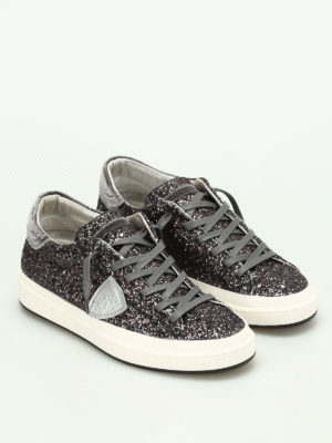 Philippe Model: trainers online - Opera glittered sneakers