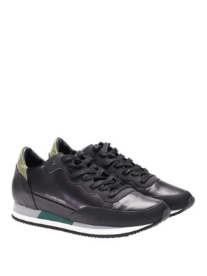 Philippe Model: trainers online - Paradis black leather sneakers