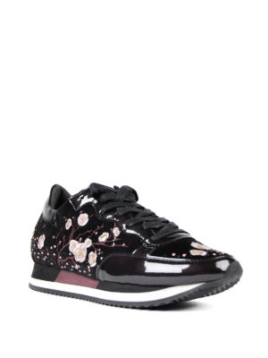 Philippe Model: trainers online - Paradis embroidered velvet sneakers