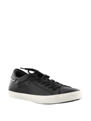 Philippe Model: trainers online - Paris black leather sneakers