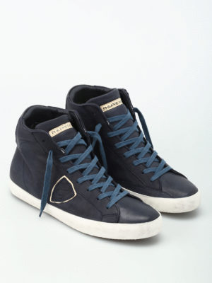 Philippe Model: trainers online - Paris calf leather hi-top sneakers