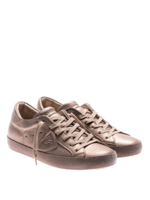 Philippe Model: trainers online - Paris glitter champagne sneakers