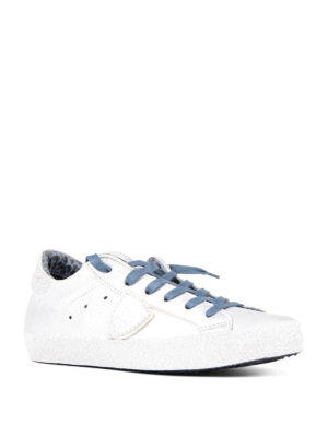 Philippe Model: trainers online - Paris Glitter leather sneakers