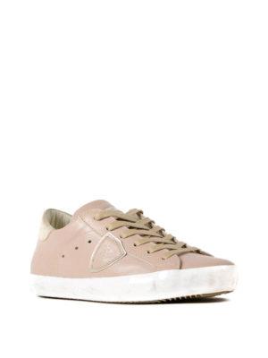 Philippe Model: trainers online - Paris gold heel detail sneakers
