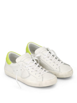 Philippe Model: trainers online - Paris green detailed sneakers