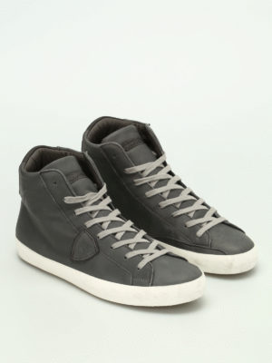 Philippe Model: trainers online - Paris high top calfskin sneakers