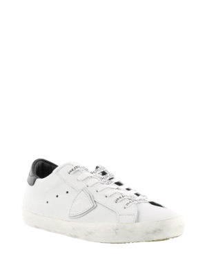 Philippe Model: trainers online - Paris leather sneakers with logo