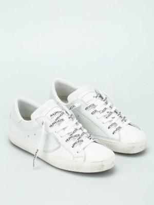 Philippe Model: trainers online - Paris logo laces sneakers