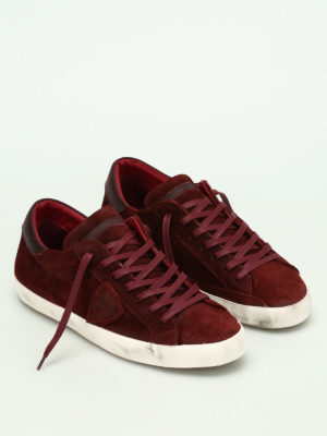 Philippe Model: trainers online - Paris low top suede sneakers