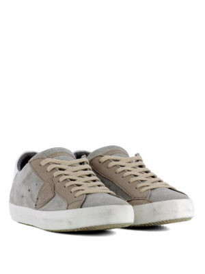Philippe Model: trainers online - Paris Mixage grey suede sneakers