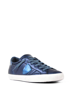 Philippe Model: trainers online - Paris opalescent leather sneakers