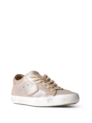 Philippe Model: trainers online - Paris pearly leather sneakers