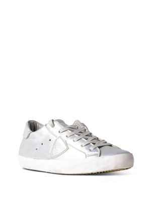 Philippe Model: trainers online - Paris silver leather basic sneakers