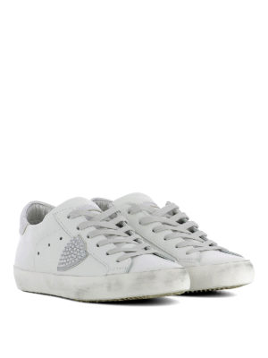 Philippe Model: trainers online - Paris Studs Blanc leather sneakers