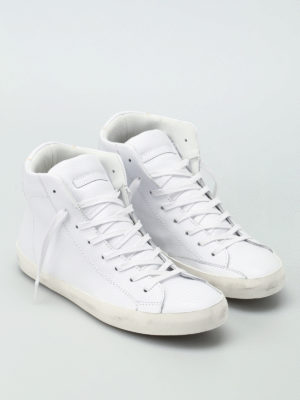 Philippe Model: trainers online - Paris total white high top sneakers
